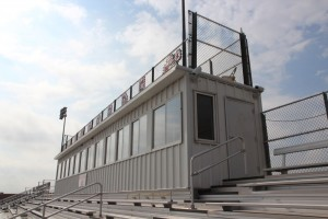 The press box is one of the areas of the school to be changed thanks to the new bond.