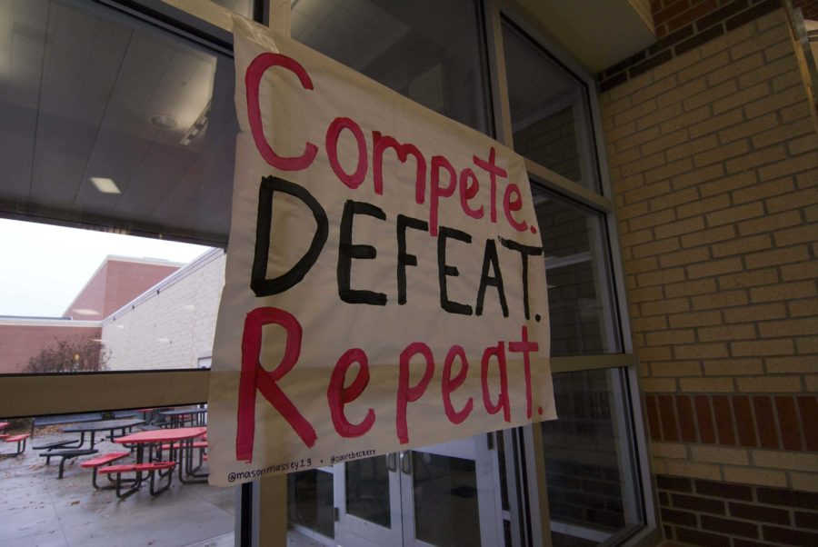 School spirit has taken a creative but risky turn when cheerleaders made a controversial sign to support the basketball team.