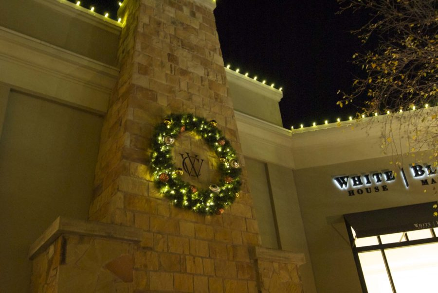Decorations like this one cover Watters Creek. This one, is above a fire place.