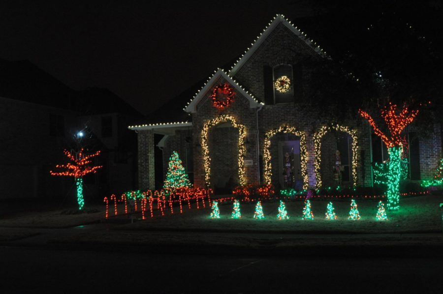 Located on Monaco drive in Stacy Ridge; the lights are synced to a radio station, so make sure to tune in to 89.9 next time you are in the neighborhood