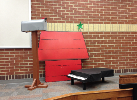 Charlie Brown and the Peanuts will be performing live at the Fine Arts Festival in the student directed play 'A Charlie Brown Christmas' at 2:00 p.m. and 2:30 p.m. in the Lecture Hall.