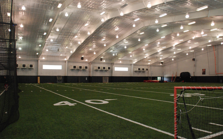 On most days, the indoor facility is a hub for sports teams, but after seasons end, it's left quiet. Athletes are left without a sport and seniors take part in a pseudo-study hall.