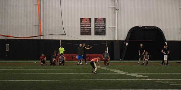 Football continues to challenge themselves during offseason to prepare for the spring and fall seasons.