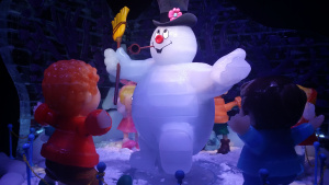 An ice kingdom at the Gaylord Texan is a popular winter attraction.