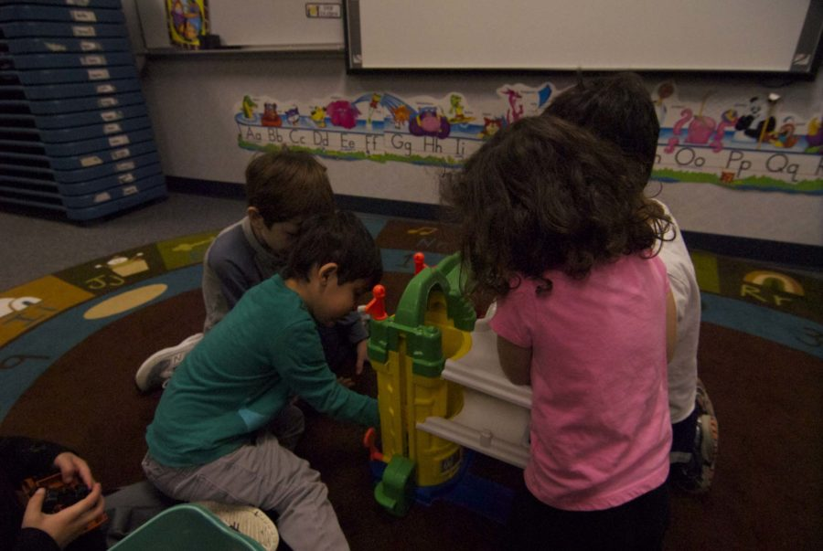 Some teachers' children spend their afternoons at Little Leopards at Hart Elementary where  they play with other children.