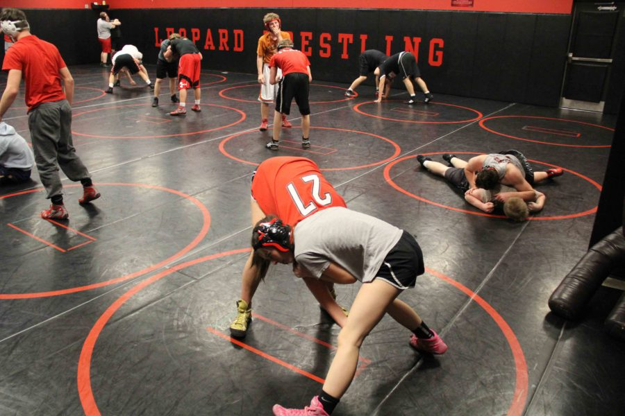 After a penetration step, the first offensive move made, the two fight for the upper-hand. For stability, both take a stance with legs spread wide.