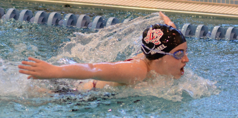 The Leopard swim and dive team, including the pictured Mallory Immel, competed in the district finals this past weekend and are sending multiple athletes to the state competition and head coach Greg Fisher has hopes for the competition.