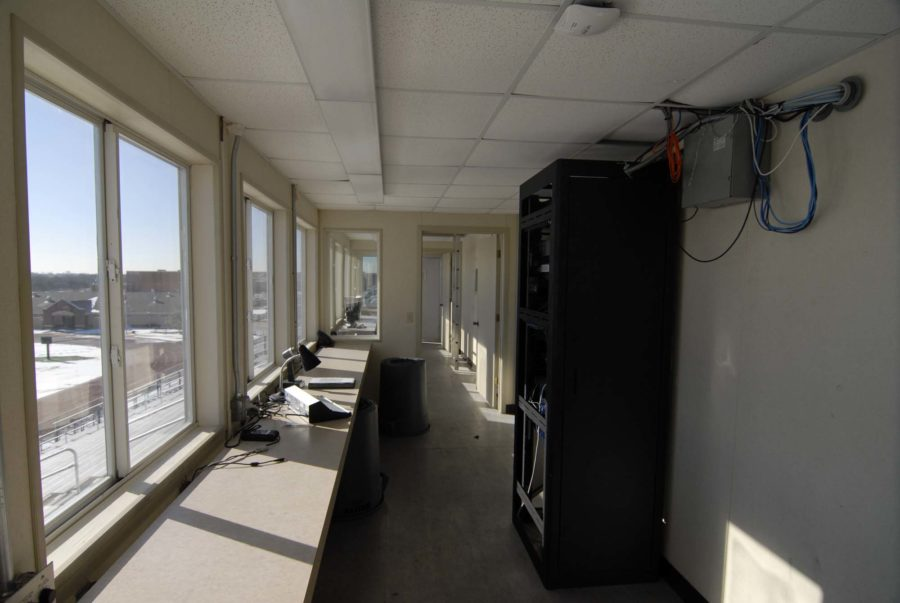 The press box will be entirely renovated as a result of the bond package.