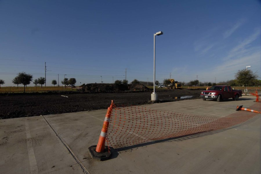 The front of the school is being worked on as well to add more parking spaces.