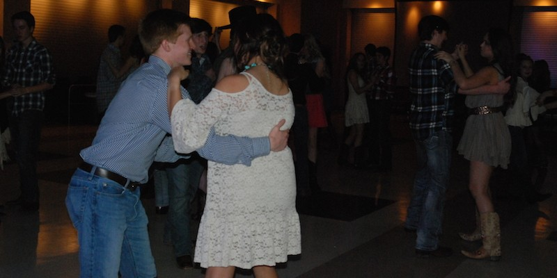 During the dance a wide range of country music was played.
