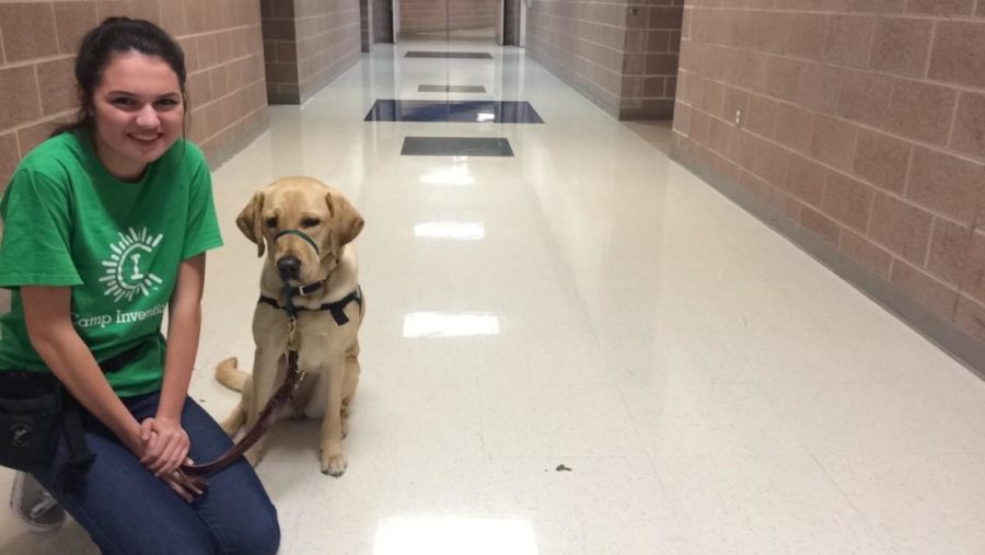 Requiring more training than most pets, senior Olivia Fowler spends hours working with her dog in order for it to become a service dog.