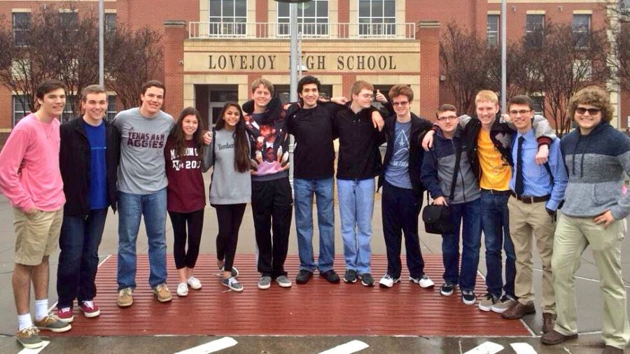 Debate students that competing in TFA State at their send off.