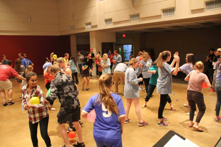 Younglife is known for its fun (and sometimes chaotic) games, or as the leaders called them, mixers. During club Monday night, everyone participated in a game where the goal was to keep your balloon form being popped by other competitors.