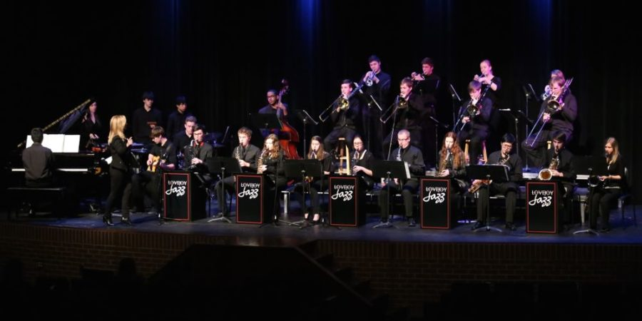 The+Jazz+ensemble+presented+a+concert+on+March+3+in+the+auditorium.