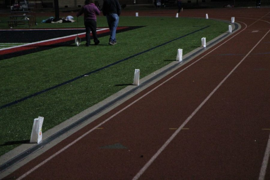 At+10%3A30%2C+the+stadium+lights+were+extinguished+for+the+Luminaria+Ceremony.+Participants+took+a+silent+lap+around+the+track+in+honor+of+survivors.