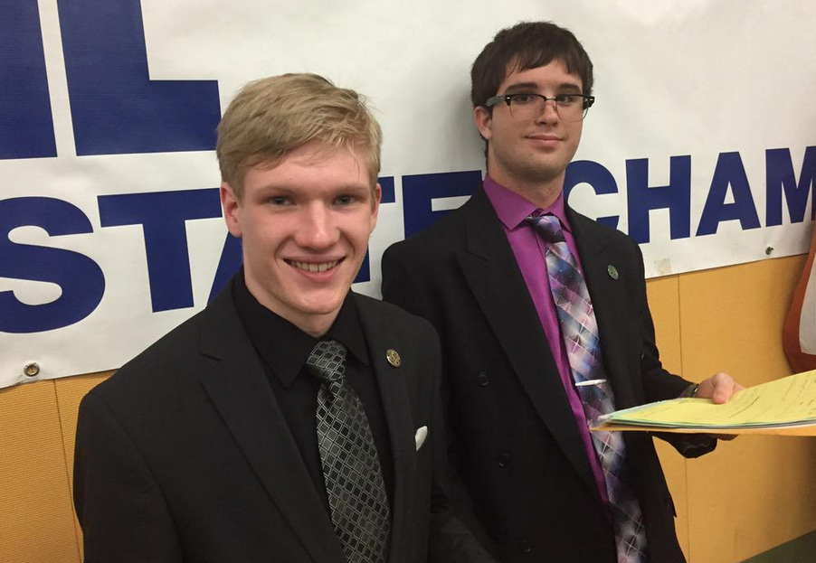 Advancing further than any CX Debate team in school history, juniors Stewart Cannon and Stu Mair lost in the final 16.