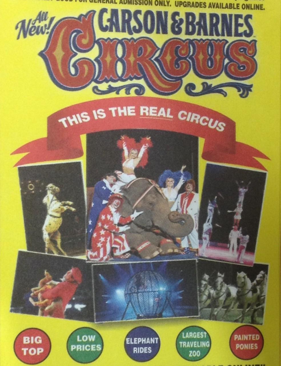 The Carson and Barnes Circus is coming to Fairview March 20-22. There are free tickets available at the Walmart in Lucas for children under 12 with the purchase of an adult ticket.