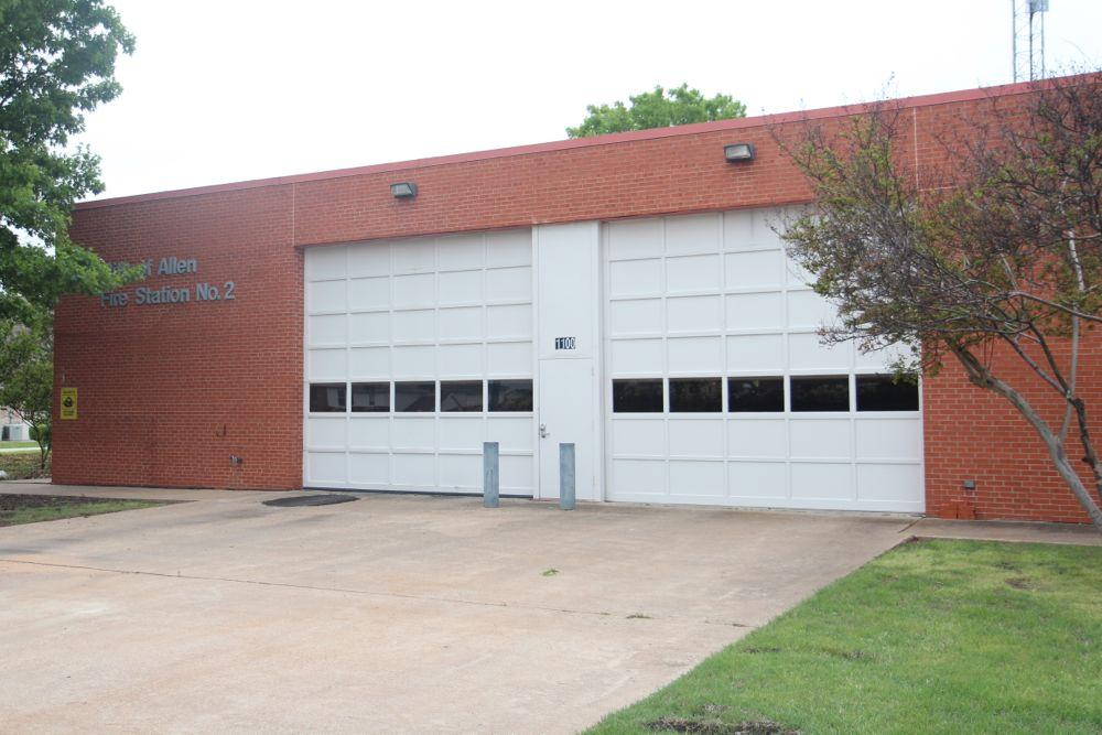 The fire department on Exchange Parkway is currently under construction, temporarily displacing the department headquarter.