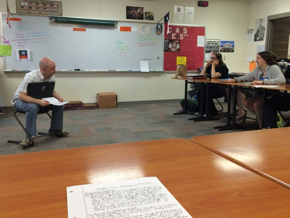 APUSH teacher Brian Erskine is one of the teachers hosting a mock exam outside of school.