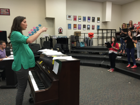 Head choir teacher Bethany Stuard is expecting her first child, Vivien, during the month of May.