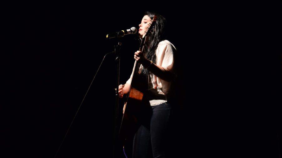 Junior, Jaden Jostrand, performs