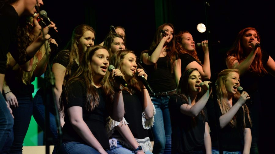 Spotlight girls pose to sing their rendition of