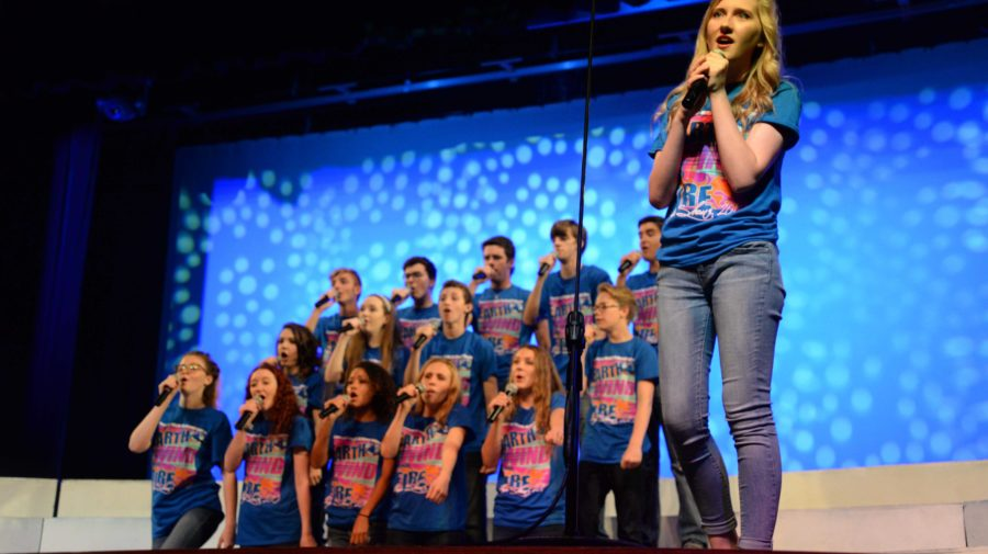 The a cappella group performs