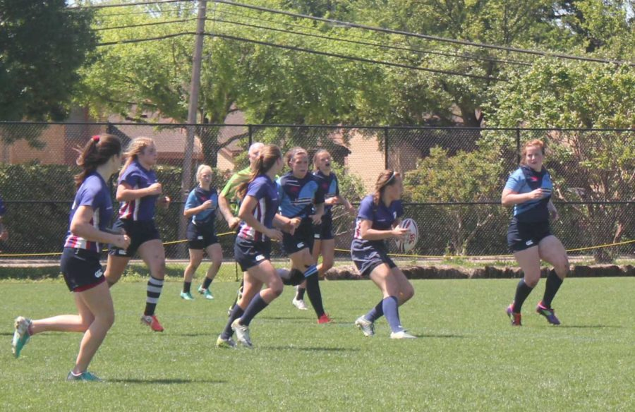 Senior Gracie Berrett plays rugby for Plano Rugby Club, a primarily male dominated sport.
