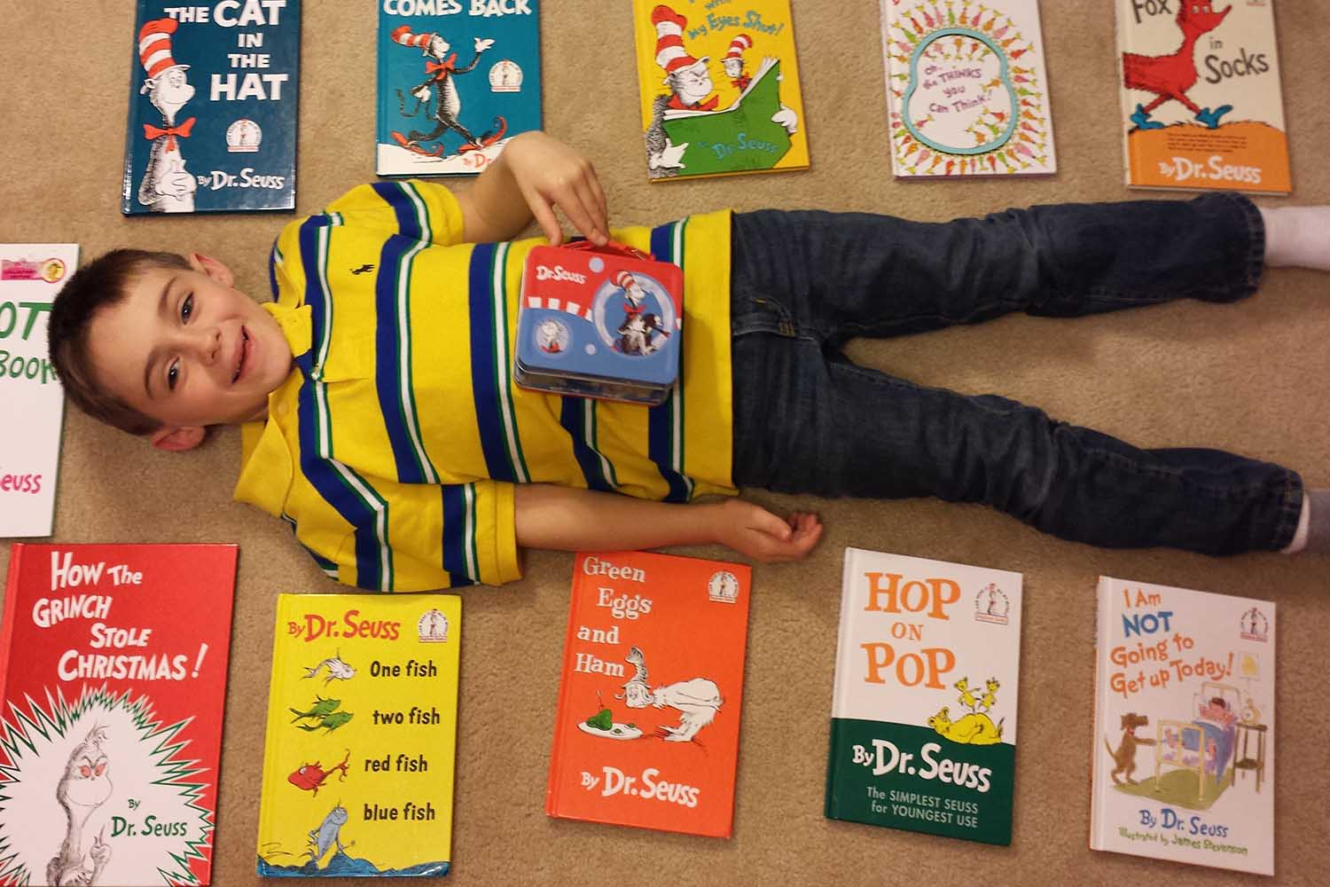 Laying on his bedroom floor surrounded by his collection of Dr. Seuss books, 7-year-old Owen Higgins was excited to hear about the discovery of an unpublished Dr. Seuss book that is scheduled to go on sale July 28.