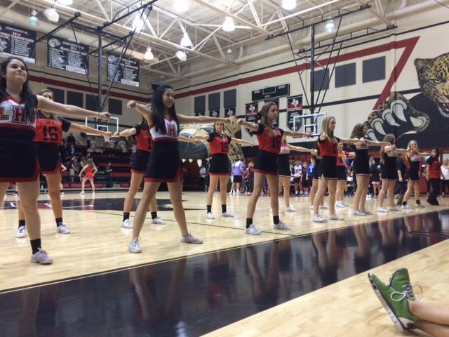 Cheerleaders perform at the Special Olympics Pep Rally on Monday, May 18, 2015. The Pep Rally was for the Lovejoy Special Olympics team as they start their competitions around North Texas.
