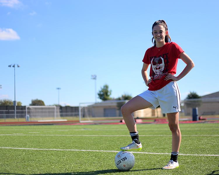 Freshman+Cassidy+Litchenburg+plays+soccer+for+the+school+and+for+a+select+team.