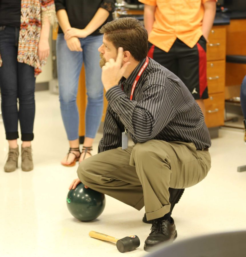 New physics teacher, Bryce Sawyers brings more than college experience to the classroom.