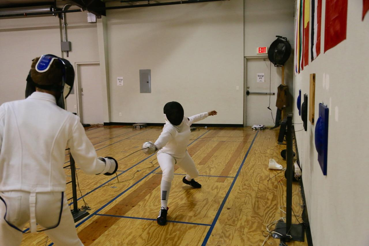 Junior Hannah Lawson is competing for a place on the Olympic fencing team. Lawson has been fencing for 5 years now, in both England and the USA.