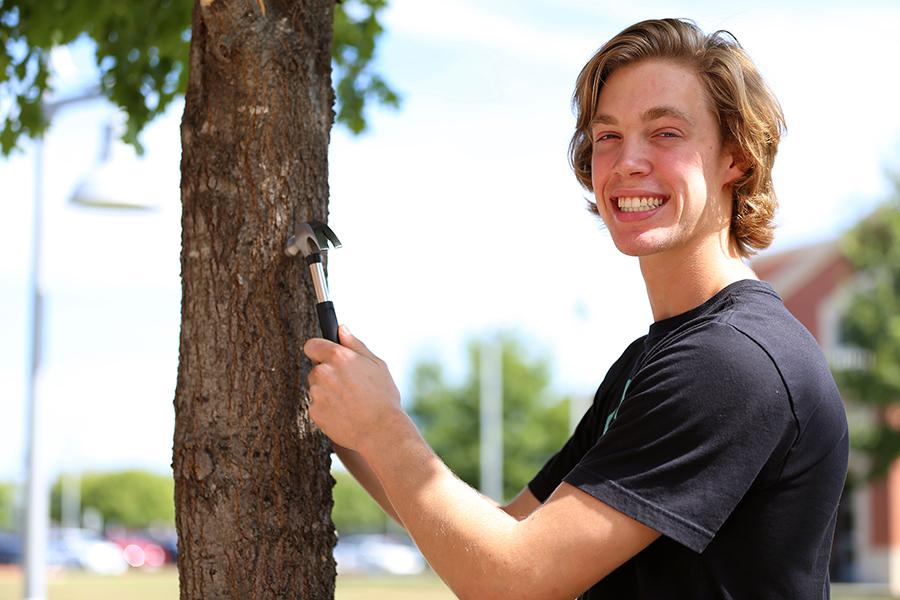 Senior Drew Hawley is renovating his grandmother's house for his senior project.