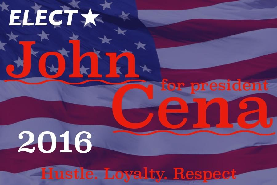 Currently, the US is facing countless issues, both domestic and foreign, such as immigration and tax reform. Because of this, America needs someone to unite them, guide them, and change the path of the country. What America needs is John Cena: the next great American president.
