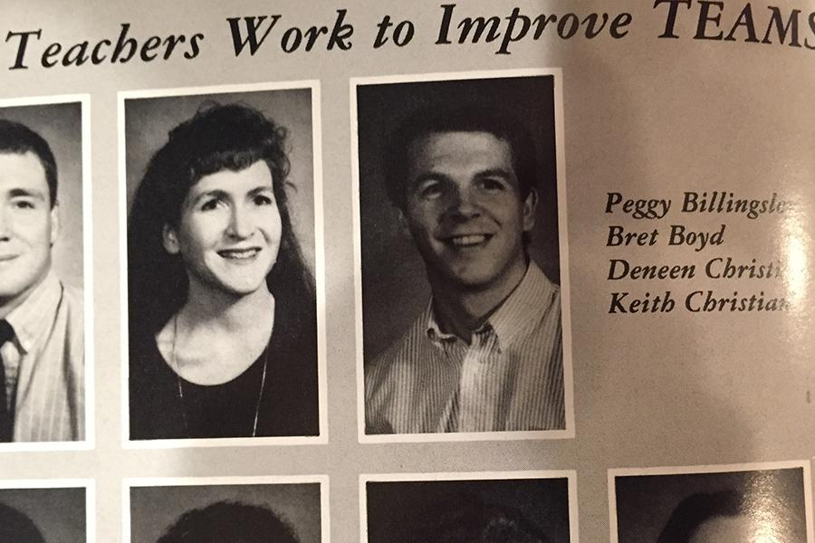 Mr. and Mrs. Christian above in the 1988 McKinney Lions yearbook.