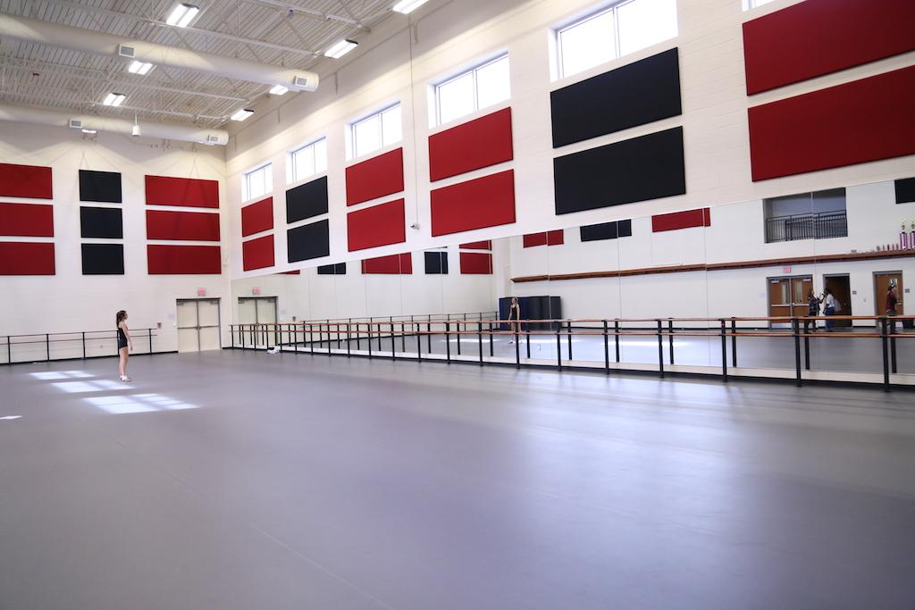 Additions to the school have been under construction for months, but now the west wing, the new fine arts rehearsal space, has been completed.