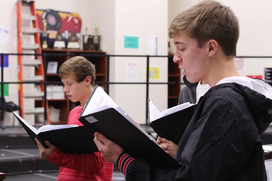 All choir students well be delivering carol-o-grams throughout the community on Dec. 7 and 8. The carols are sold as a fundraiser for the choir department.