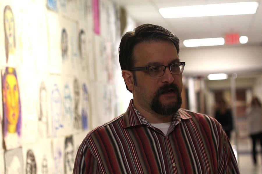 Art teacher Jeff  Seidel