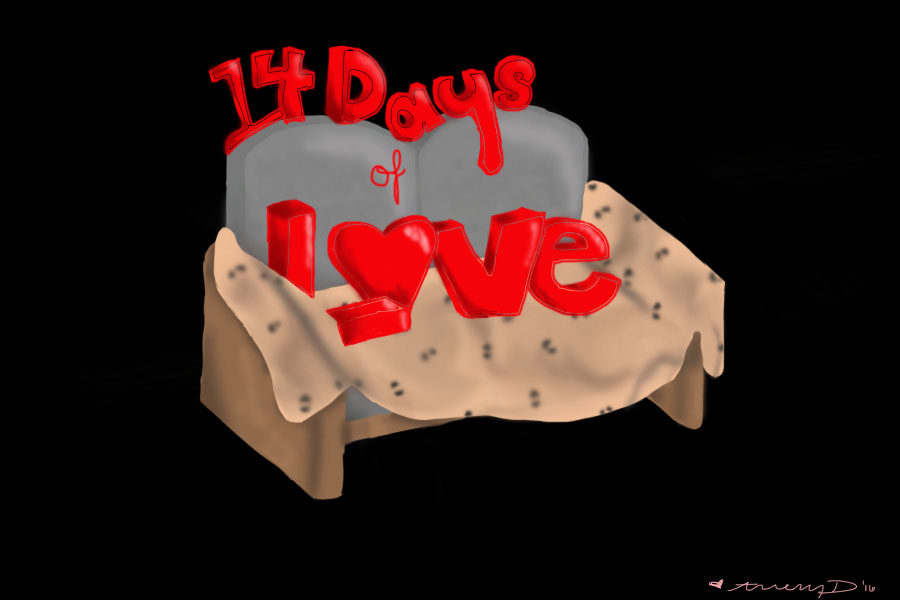 14+Days+of+Love+is+a+Red+Ledger+series+featuring+couples+the+14+days+leading+up+to+Valentine%27s+Day+to+talk+about+their+love+staring+on+Feb.+1.