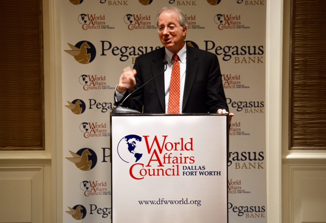 Ambassador Ross speaking Tuesday night at the Crescent Hotel.