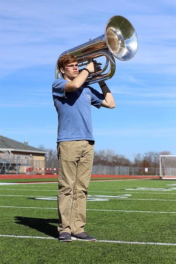 Junior Jacob Oates is an alternate for the Boston Crusaders, a part of Drum Corp International.