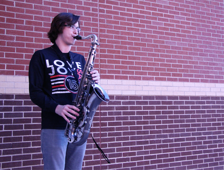 Senior Jack Shore is involved with choir and band and plans to attend the University of North Texas in the fall.