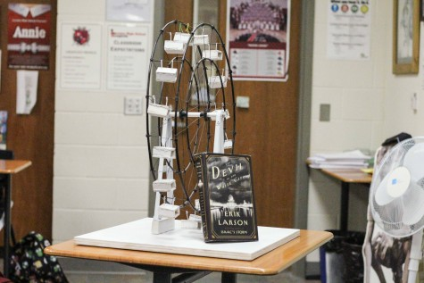 """Occuring every year, the """"Court of Innovation"""" is a project in Jasen Eairheart's GT Ap Language classes. It is tied to the, """"Devil in the White City"""" by Erik Larson. Pictured is the ferris wheel that won last year."""