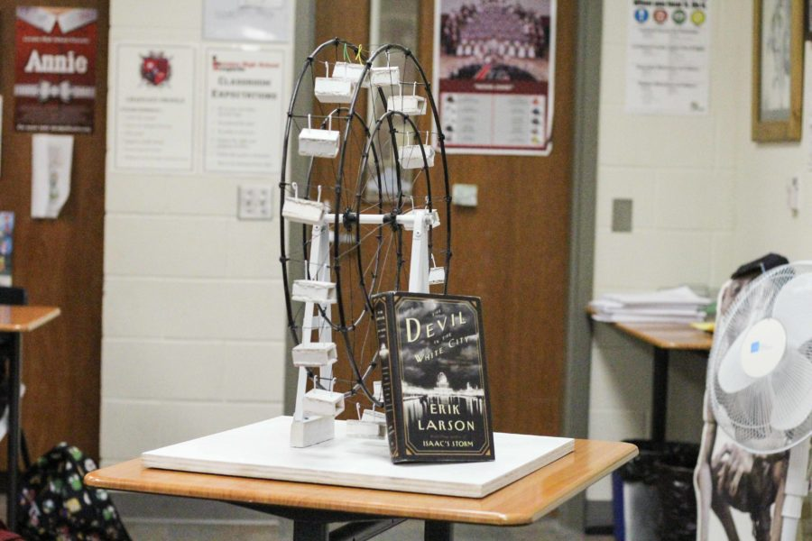 Occuring every year, the Court of Innovation is a project in Jasen Eairhearts GT Ap Language classes. It is tied to the, Devil in the White City by Erik Larson. Pictured is the ferris wheel that won last year.