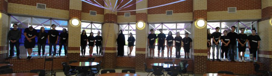 At the end of the school day, all of the victims lines the windows in the commons, showing the true impact drunk driving can have on lives.