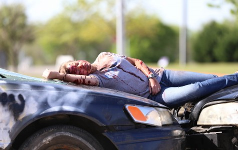 Part of the Shattered Dreams presentation showed Abby Bryant as a victim of a staged drinking and driving accident.