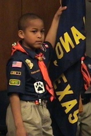 Jalen Fields joined Cub Scout Pack 404 in first grade.