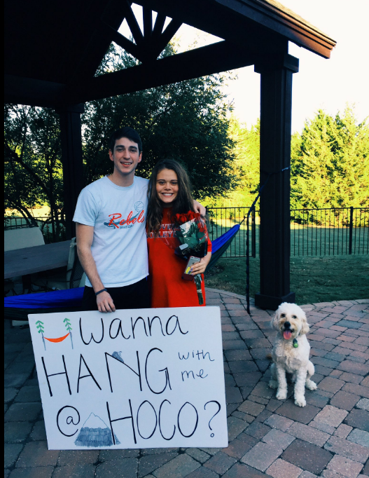 """Catch seniors Matthew Fisher and Ellie Stockton """"hanging out"""" on Sept. 24."""