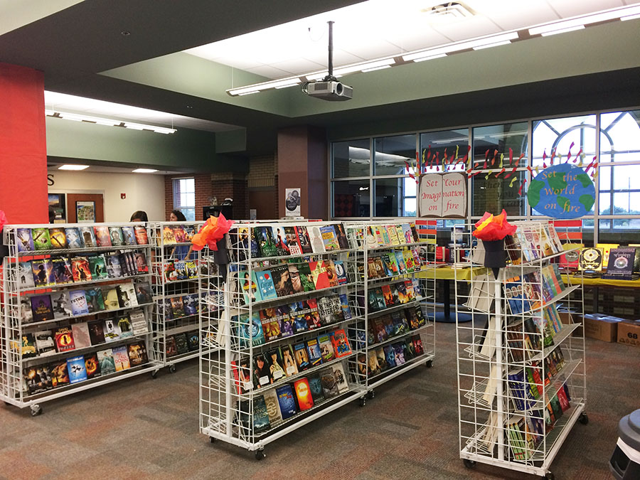 The book fair isn't for just elementary schools anymore. The high school book fair features multiple books that are required for school reading as well as other popular reads.